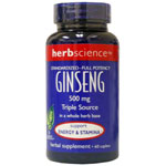 HerbScience Ginseng 500mg 60s
