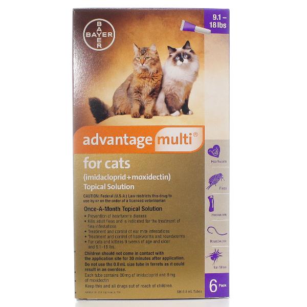 Advantage Multi Cat 9.1-18 By Bayer Pet Rx(Vet)